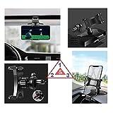 DFV mobile - Soporte Smartphone GPS Coche 3 en 1: Pinza Salpicadero/Visera + Clip Rejilla AC para Black Fox B8Fox (2020) - Negra