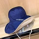 sdssup Cordón de Tela a Juego de Color de Doble Cara Sombrero de Pescador algodón Azul arroz código