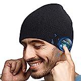 EVERSEE Gorro Bluetooth Regalos Originales Hombre - Bluetooth Gorro Invierno Hombre, Lavable Gorro Beanie Bluetooth 5.0, Hombre Mujer, Gorro Deportivo con Bluetooth Auriculares