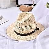 FHHYY sombreo Sombrero de Paja Sombreros de Verano para Mujer Sombrero de ala Ancha Empacable Gorra de Playa Plana para Mujer Sombrero de Sol para Mujer Sombrero de Playa para Mujer,DF