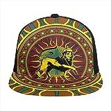 Rasta Judah Lion Animal Sun Snapback ajustable plana Bill gorra de béisbol de algodón visera sombrero liso para deportes al aire libre hombres mujeres negro