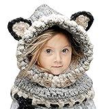 Sumolux Gorras Fox Sombreros Capucha Beanie Niños Niñas Bebés de Punto para Invierno