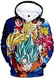 PANOZON Sudadera para Hombre Impresa Dragon Ball Chaqueta Deportiva Anime Japonés Estilo Casual (XL, Verde 272)