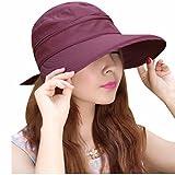 Minions Boutique - Sombrero de Visera para Mujer, protección UV, para Playa, Pesca, Sol y Viseras Anti-UV, Mujer, Granate
