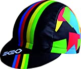 Campeon del Mundo Negra Gorra EKEKO MICROPERFORADA VSYSTEM 100% Poliester, Ciclismo, Running, Trailrunning, Triatlon