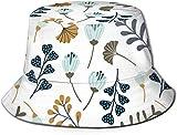 Hojas, Flores y Elementos Florales Tapa Plana Unisex Sombrero de Pescador Gorros al Aire Libre para Viajes Playa Protección Solar Gorra de Pescador Lisboa Geométrica Azulejo Azulejo Sombrero de Cubo