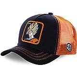 AOXQ Gorras de Hombre Sombrero de Malla Gorra de béisbol Gorra de Rebote de Borde Curvo Negro y Amarillo-Orange_Goku_54cm-62cm