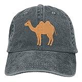 xinfub Gorra de béisbol Unisex Sombrero de Mezclilla de algodón Camel Dos jorobas Snapback Ajustable Sunbonnet Net Red 4846