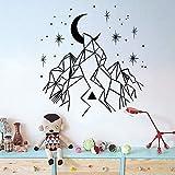 jiushivr Árbol con Zen Yoga Icons Etiqueta de la Pared para Yogo Studio Vinyl Wall Decal Art Pattern Decor Bedroom Modern Office Dcoration 84x86cm