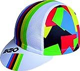 Campeon del Mundo Blanca Gorra EKEKO MICROPERFORADA VSYSTEM 100% Poliester, Ciclismo, Running, Trailrunning, Triatlon