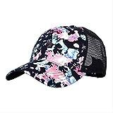LQH Gorra de Beisbol 1pc Baseball Cap Floral Print Flower Mesh Hat Unisex Outdoor Casual Hat Visor Spring Summer AutumnZQ