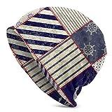 Gorros Unisex Gorros Náutico Marítimo Náutico Ancla Vintage Marinero Tejido Sombrero Cráneo Gorra Mujeres Hombres Sombreros Negro