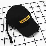 kyprx Gorra de béisbol de Verano Letras de Gorra de cinturón Amarillas Curvas Bordadas a lo Largo del Sombrero para Viajar Sombrero para el Sol