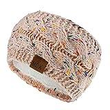 RISTHY Tejidos Crochet Twist Mujeres Diadema Invierno Oído Más Cálido Banda Elástica para el Pelo de las Mujeres Accesorios para el Cabello Ancho