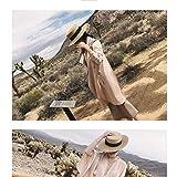 FUYU Sombreros para el Sol Sombrero pequeño de Paja de Abeja Sombrero Trenzado Dorado Retro Europeo y Americano Sombrero Protector Solar Suelto Sombrilla Gorra Plana Viseras Sombreros, Negro