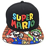 SKG369 Gorra de Beisbol,Super Mario Mario Bros. Hat Bordado, Pikachu Sunscreen Baseball Hat @ Mario-Brother_Adjustable