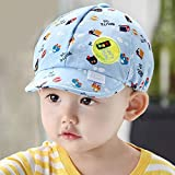 Sombrero de bebé con Letra para niños pequeños, Gorra de béisbol para bebés, Visera Ajustable de algodón, Sombrero para el Sol, Gorras con Visera para niñas, Verano y Primavera-Blue Car