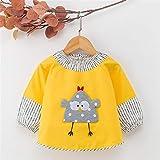 LiXiang666 Hombres y Mujeres bebé Comer Botón Impermeable del Delantal del Babero bebé de los niños de algodón de Manga Larga Babero (Color : H, Size : M 9-18 Months)