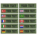 Custom Military Name Patch Embroidered,Name tag Personalized (Army green background)
