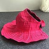 HATSMT Sombrero De Sol para Mujer Protector Solar para Exteriores Plegable Sombrero Grande Gorra Visera Sombrero Ajustable