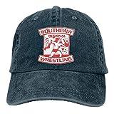 RFTGB Gorras Unisex Accesorios Sombreros Gorras de béisbol Sombreros de Vaquero Southpaw Wrestling Denim Baseball Cap, Unisex Vintage Dad Hat, Golf Hats, Adjustable Plain Cap
