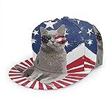 Gorra de béisbol divertida con diseño de bandera estadounidense de los Estados Unidos, gorra de béisbol, gorra de camionero, gorra de béisbol ajustable plana, color negro