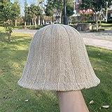 Xme Sombrero de Pescador de Color sólido de otoño e Invierno para Mujer, Gorro de algodón de Moda de Todo fósforo, Gorro Recto para Exteriores, Gorro de Lavabo