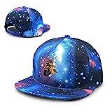 Qidsuf Unisex Koopa Kaiju Super M-Ario Bros Galaxy Algodón Hip Hop Snapback Sombrero De Ala Plana Adulto Papá Gorras De Béisbol Azul