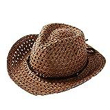 pingtr Sombrero del bebé niña y niño,Sombrero de Paja Transpirable de Verano para niños el Verano Playa de la Boda Fiesta Sombrero Sol del Gorra del Pescador Bebe del Vaquero