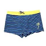 Mitlfuny Verano Traje de Baño para Niño Bañador de Natación Raya Árbol de Coco Estampado Correas Esquina Plana Pantalones Cortos para Niños Nadando Nadaría Piscina Ropa de Playa Chicos 2-12 Años