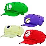 thematys® Super Mario Gorra Luigi Wario Waluigi - Disfraz de Adulto y Niños Carnaval y Cosplay - Classic Cappy Cap