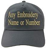 4sold Bordado Personalizado Gorra Infantil Fuente Girly Kids Sombrero Personalizado Sombrero Niños Personalizado Niños Niñas Sombreros (Graphite)