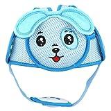 Casco Protector de Cabeza de Bebé Gancho ligero y lazo Casco de seguridad Casco protector de la cabeza anticolisión para caminar (Blue Puppy)