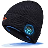EVERSEE Regalos Originales para Hombre y Mujer Gorro Bluetooth - Bluetooth 5.0 Gorro Bluetooth, Gorrode Invierno con Auriculares Bluetooth Inalámbricos, Apto para Esquí, Ciclismo, Trotar