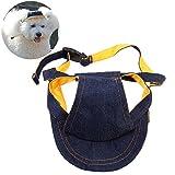 UEETEK Cachorros de Perros Gorra de béisbol Sombrero de Visera Sunhat Correa de Barbilla Ajustable Sunbonnet, Tamaño S para 28-33cm Circunstancia del Cuello