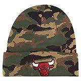 A NEW ERA Gorro (Beanie) NBA Chicago Bulls Esnl Camo Knit Verde/Negro/Multi Talla: OSFM (Talla única para Hombre)