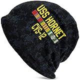 LinUpdate-Store USS Hornet CVS-12 con Cintas de Servicio de Vietnam Sombrero Unisex Sombrero de Punto Sombrero de Calavera Gorro Gorro