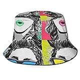 GGdjst Sombreros de Cubo, Madonna Fisherman Beanie Black Graphic Printed One Size Sombrero De Sol Gorra Plana para Mujeres De Hombres