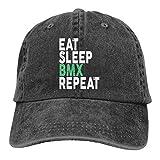 Unisexo Eat Sleep BMX Repeat Respirable Gorras De Béisbol para Chicas Chicos Moda Adjustable Trucker Cap Hip Hop Hats