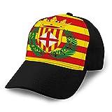 hyg03j4 4 Gorra Ajustable de béisbol con Fondo Plano La Bandera de Barcelona es una Provincia de España Sun Cap