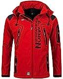 Geographical Norway Hombre de Tacto Suave Funciones Chaqueta para Exterior Impermeable - Rojo, S