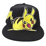 Tenis animado Sombrero, Pokémon: Pikachu, gorra de béisbol, ajustable, transpirable, de ala plana Hip-hop del sombrero, gorra de béisbol de moda de la historieta linda al aire libre Protección Solar