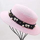 HATSMT Sombreros De Mujer con Visera para LaPlayaSombrero De Dama Sombrero De ala Ancha Sombrero De Paja De Fedora De Verano