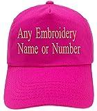 4sold Bordado Personalizado Gorra Infantil Fuente Girly Kids Sombrero Personalizado Sombrero Niños Personalizado Niños Niñas Sombreros (Fuschia)