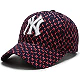 valhalla Gorras de Beisbol NY Yankess New York,Gorra yankess Ajustable Unisex,Estampado Algodon,Visera de 7.5 (Granate)