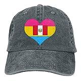 Desconocido Gorro de Mezclilla Ajustable para Hombres o Mujeres Gorras de béisbol Pansexual Heart Peru Flag Snapback Cap