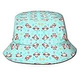 cvbnch Gorro de Pescador Printed Cute Animal Fisherman Polyester Hat Casual Travel Headgear Sun Hat Fisherman's Caps