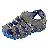 YWLINK Sandalias Deportivas NiñOs Zapatos para NiñOs Punta Cerrada Verano Playa Sandalias Zapatos,Zapatillas Antideslizante Fondo Blando Casuales(Gris,28EU)