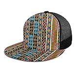 Gorra de béisbol Etnia Africana Decoración tribal Motivos Arte Gorras de béisbol ajustables Unisex Hip Hop Snapback Sombreros planos