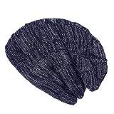 SWEDREAM Sombrero de Invierno Gorros de Punto Gorras para Mujeres y Hombres Sombreros de Suave Invierno de Lana (Azul)